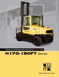 H170-190FT Series - Hyster Company