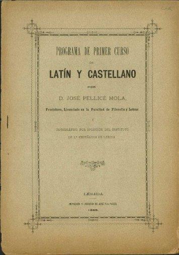 LATIN Y CASTELLANO - Sol-Torres