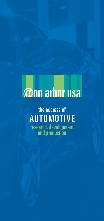 Automotive Sector Brochure - Advancing the economy of the Ann ...