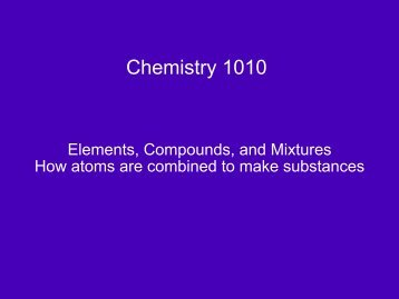 Chemistry 1010