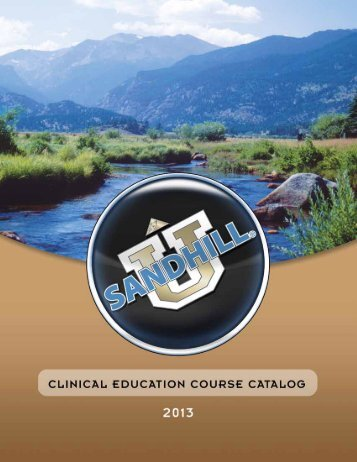2013 Clinical Education Catalog - Sandhill Scientific
