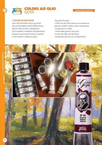 Colori ad olio - Cobea Colori