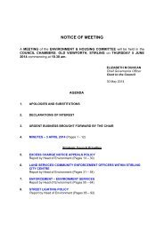 Environment & Housing - Stirling Council - Decisions On Line