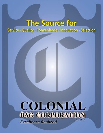 Colonial Bag Catalog - NY Tech Supply