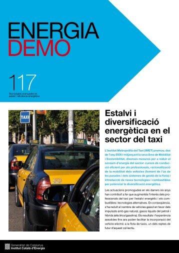 Estalvi i diversificació energètica en el sector del taxi - Institut ...
