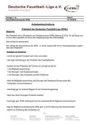 DFBL-GO Anlage 1 - Deutsche Faustball-Liga eV