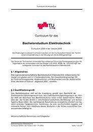 Curriculum für das Bachelorstudium Elektrotechnik - mibla.TUGraz.at