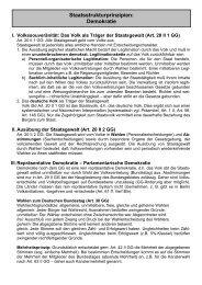 Staatsstrukturprinzipien: Demokratie