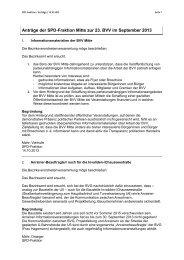 Anträge der SPD-Fraktion Berlin-Mitte vom 14. Oktober 2013
