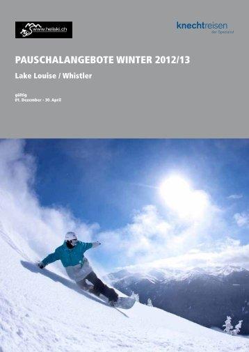 PAUSCHALANGEBOTE WINTER 2012/13 - Heliski