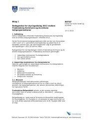 Redegørelse for styringsdialog 2012 mellem kommunen og de ...