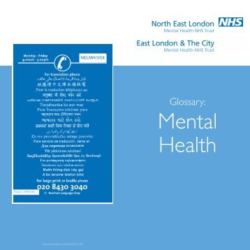 Mental Health Glossary 2 - MALG