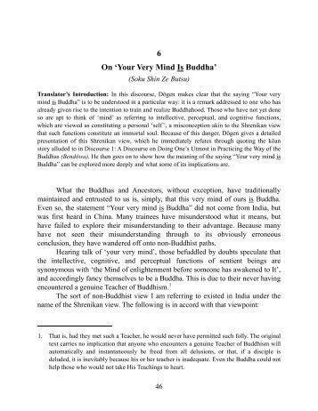 Soku Shin Ze Butsu - thezensite