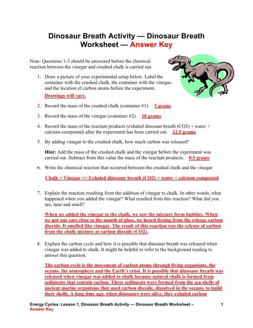 Of carbon worksheet the chemistry The Carbon