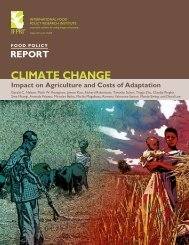 Impact on Agriculture and Costs of Adaptation - ICCIP the ...