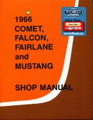 DEMO - 1966 Ford Shop Manual (Comet ... - FordManuals.com