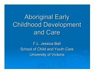 Supporting Aboriginal communities' goals for young children - Early ...