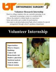 Volunteer Internship - University of Tennessee College of Medicine ...