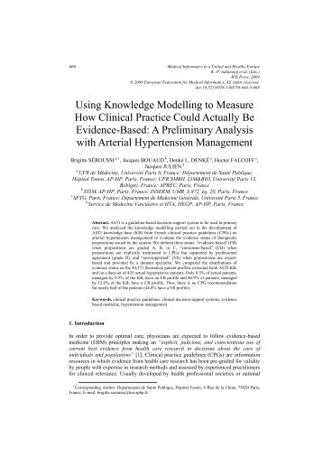 Using Knowledge Modelling to Measure How Clinical Practice ...