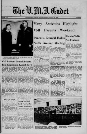 The Cadet. VMI Newspaper. October 23, 1965 - New Page 1 [www2 ...