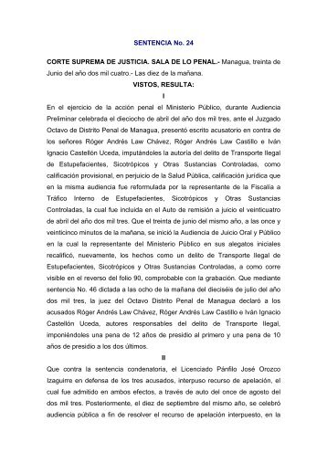 SENTENCIA No - Poder Judicial