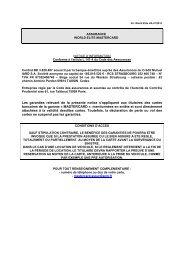 Les garanties relevant de la présente notice s'appliquent aux ... - CIC