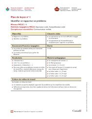 Plan de leçon no 1