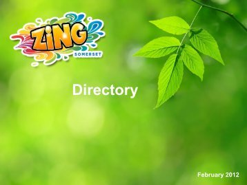 Directory Booklet PDF - Zing Somerset