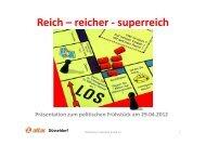 Reich – reicher - superreich - Attac Düsseldorf