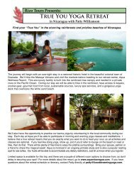 TRUE YOU YOGA REtREAt - Aqua Nicaragua