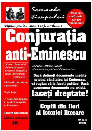 Călin L. Cernăianu, Conjuraţia anti-Eminescu, 6-9