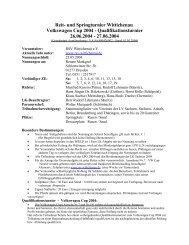 Ausschreibung Stand: 01.05.2004 - RSV-Wittichenau