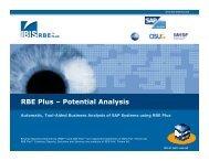 RBE Plus Potential Analysis - IBIS Prof. Thome