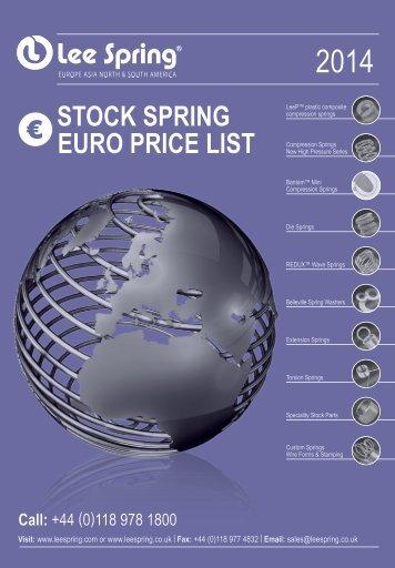 Price List - Euros - Lee Spring Ltd