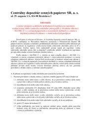 Informácia o zmene týkajucej sa dokladov prikladaných k ... - CDCP