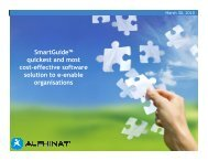 SmartGuide™ quickest and most cost-effective software solution to e ...