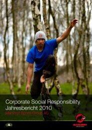Corporate Social Responsibility Jahresbericht 2010