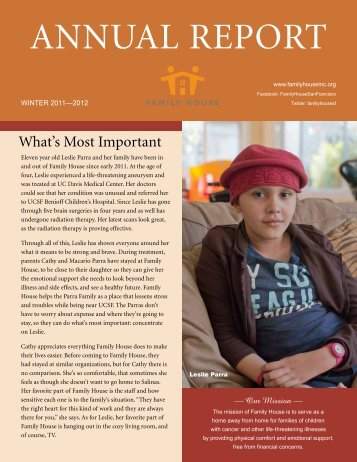 annual report winter 2011-2012 - Family House