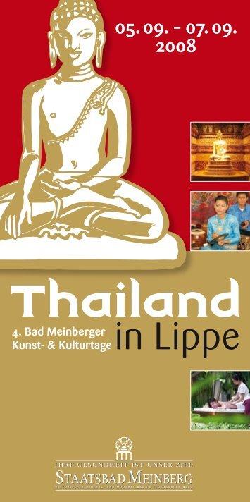 Programmübersicht - Thailand in Lippe