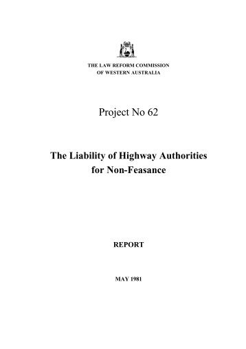 Final Report (May 1981) - Law Reform Commission of Western ...