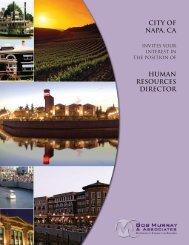 CITY OF NAPA, Ca HUMAN RESOURCES DIRECTOR - Bob Murray ...