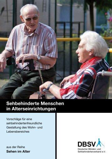 Sehbehinderte Menschen in Alterseinrichtungen