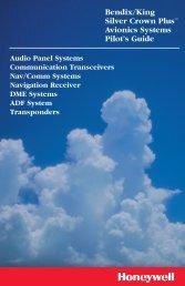 Bendix/King Silver Crown Plus™ Avionics Systems Pilot's Guide