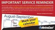 IMPORTANT SERVICE REMINDER - MetroCast
