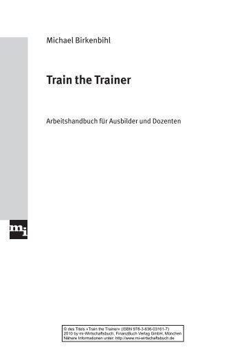 Train the Trainer - FinanzBuch Verlag