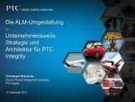 Die ALM-Umgestaltung – Unternehmensweite Strategie ... - PTC.com
