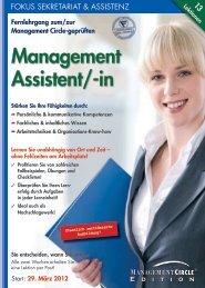 Schriftlicher Lehrgang: Der/die Management Assistent/-in ...