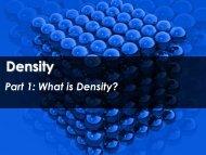 Density - Science with Mr. Enns