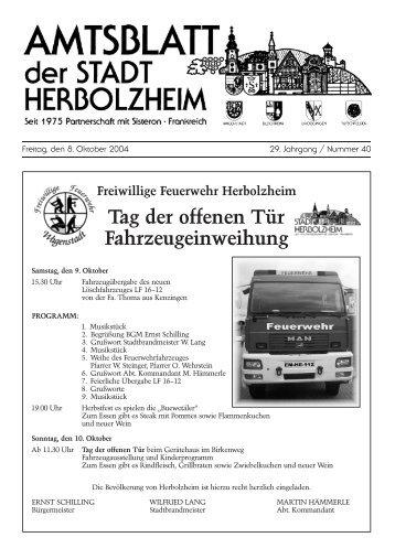 Stoppt den Bahn - SINN! WAHN - Stadt Herbolzheim