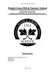 Behaviour Policy - Maple Cross JMI & Nursery School